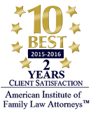 AIOFLA 2015-2016 10 Best Attorneys Badge