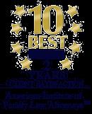 AIOFLA 2015-2016 10 Best Attorneys Badge